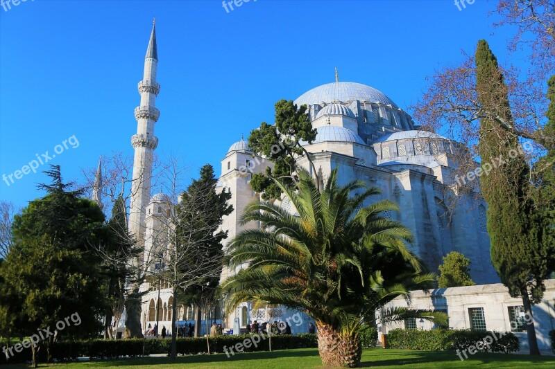 Cami Islam Religion Minaret Istanbul