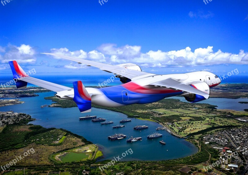 Concept Airplane Jet Plane Flight