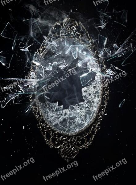 Smoke And Mirrors Magic Explosion Mirror Black Mirror